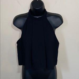 Zara Woman Black Pleated Halter Top Small